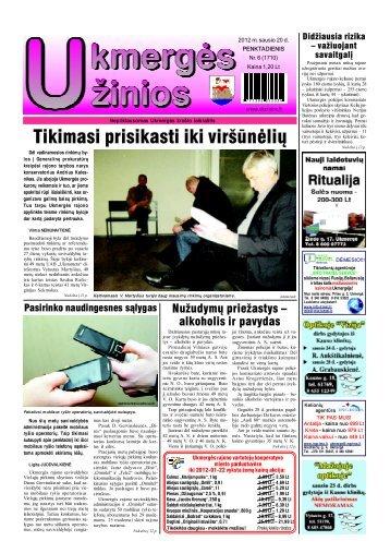 2012-01-20-1 dalis - Ukmergės žinios