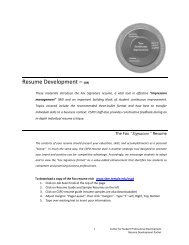 resume development cspd - Temple Fox MIS - Temple University