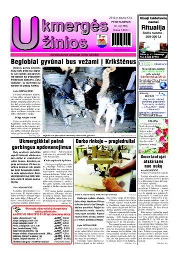 2012-01-13-1 dalis - Ukmergės žinios
