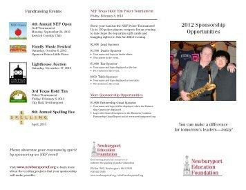 brochure - Newburyport Education Foundation