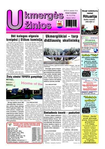 2012-02-10-UZ-1 dalis - Ukmergės žinios