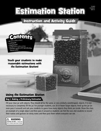 Using the Estimation Station - Educational Insights