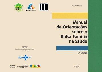 Manual de orientações sobre o Bolsa Família na Saúde