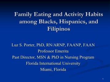Family Eating And Activity Habits Among Blacks, Hispanics - IUPUI