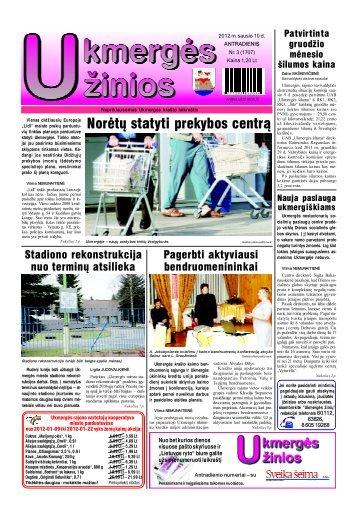 2012-01-10 - Ukmergės žinios