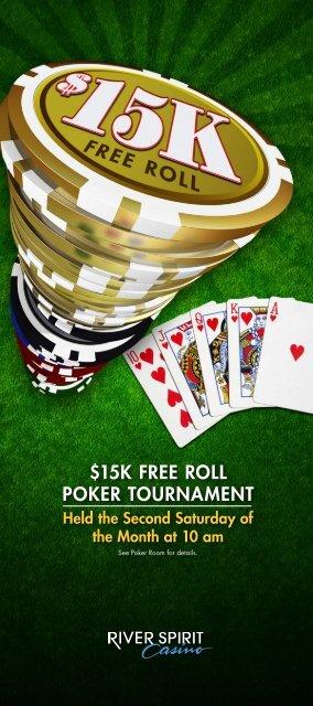 15k Free Roll Poker Tournament River Spirit Tulsa