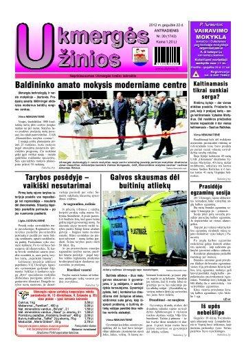 2012-05-22 - Ukmergės žinios