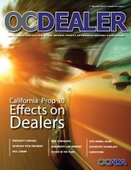 2013 - Orange County Automobile Dealers Association