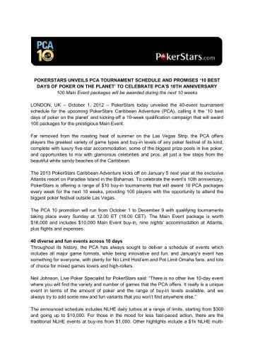 Poker tournament schedule las vegas 2012 hands to play in poker tournament