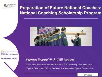 National Coaching Scholarship Program