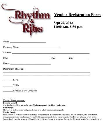 Vendor Registration Form. Sample Vendor Registration Form - 8+ ...