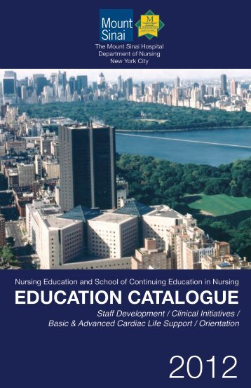 EDUCATION CATALOGUE - Mount Sinai Hospital