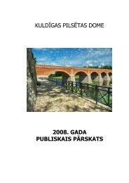 2008. gada pārskats - Kuldīga