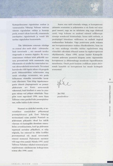 Aastaraamat 1998 (.pdf) - Kaitsepolitseiamet