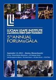 Lucian Leape Institute - National Patient Safety Foundation