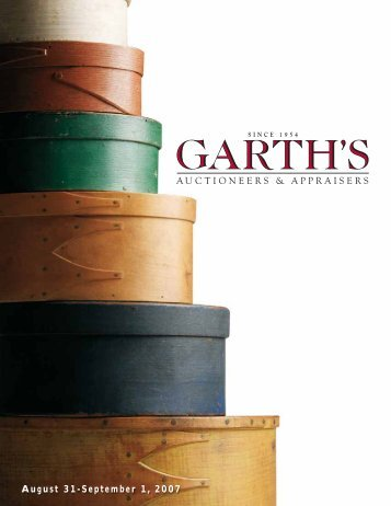 August 31-September 1, 2007 - Garth's Auctions, Inc.