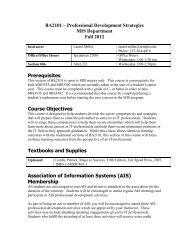 MIS201 - Business Process Analysis - Temple Fox MIS