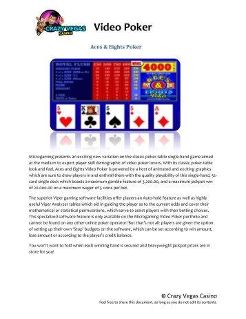 Video Poker - Crazy Vegas Online Casino