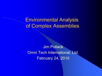 Environmental Analysis of Complex Assemblies