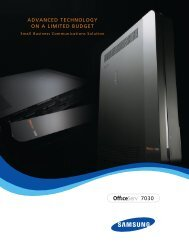Samsung OfficeServ 7030 Sales Brochure - Telephone Systems Direct
