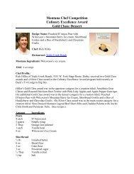 Montana Chef Competition - Visit Montana