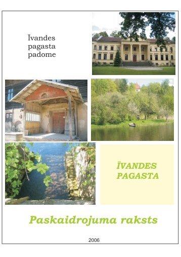 Īvandes pagasta teritorijas plānojuma paskaidrojuma raksts - Kuldīga