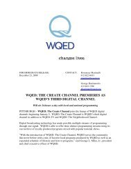 wqed: the create channel premieres as wqed's third digital channel