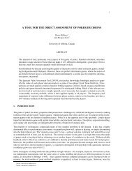 a tool for the direct assessment of poker decisions - University of ...