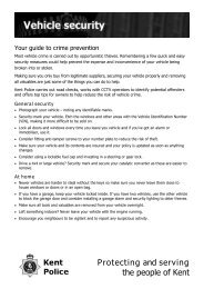 Your guide to vehicle security - Kent Police