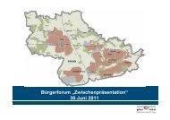 """Bürgerforum """"Zwischenpräsentation"""" 30.Juni 2011 - Zukunft Erkrath"""