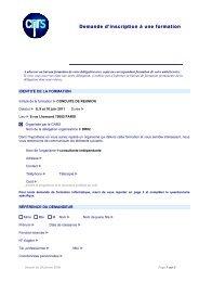 Demande d'inscription à une formatio Demande d'inscription ... - ISTeP