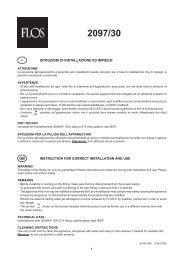 istruzioni di installazione ed impiego instruction for correct ... - Flos