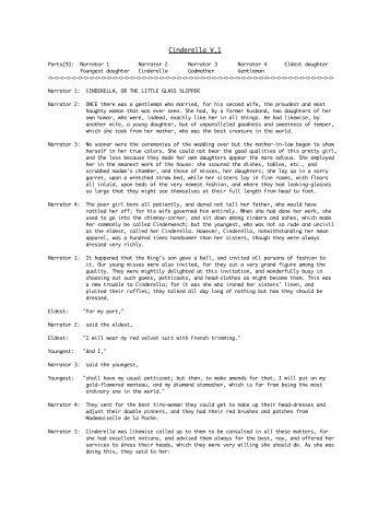 Cinderella V.1 - Timeless Teacher Stuff