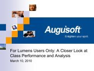 For Lumens Users Only: A Closer Look at Class ... - Augusoft