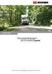 Nutzungsbedingungen DB SCHENKERspeed