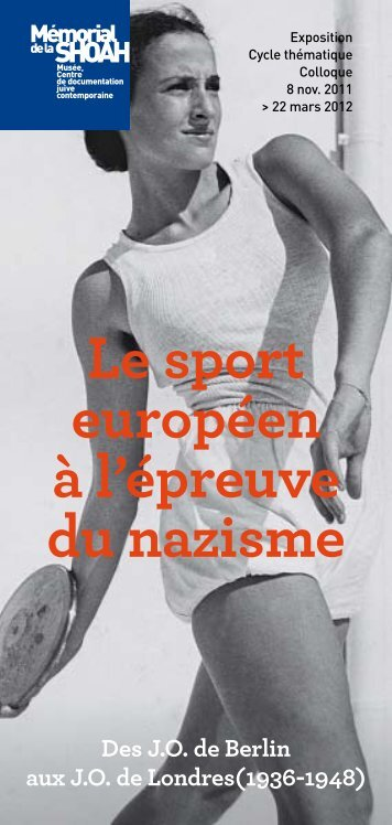 Téléchargez le programme complet - Exposition Le sport Européen ...