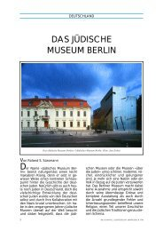 DAS JÜDISCHE MUSEUM BERLIN - Shalom