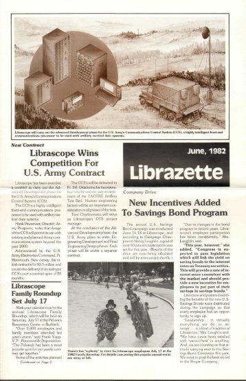 June, 1982 Librazette - Librascope Memories