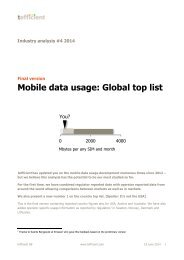 tefficient industry analysis 4 2014 mobile data usage
