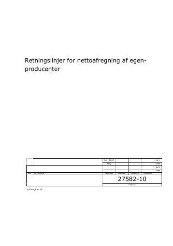 Retningslinjer for nettoafregning af egenproducenter - Energinet.dk