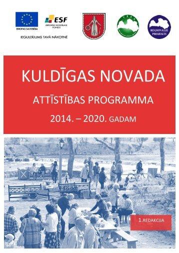 Kuldīgas novada attīstības programmas 2014. - 2020. gadam pirmā ...
