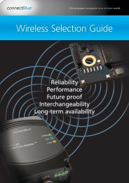 Wireless Selection Guide - connectBlue