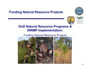 Funding Natural Resource Projects - Dodworkshops.org