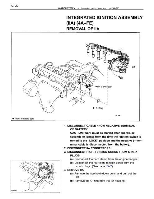 INTEGRATED IGNITION EMBLY (IIA) (4A–FE) - CelicaTech on
