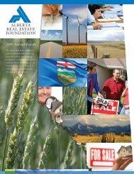 2008 Annual Report - Alberta Real Estate Foundation