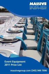 Event Equipment 2011 Price List - Massive