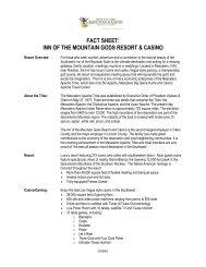 fact sheet - Inn of the Mountain Gods Resort and Casino