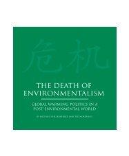 The Death of Environmentalism - BVSDE