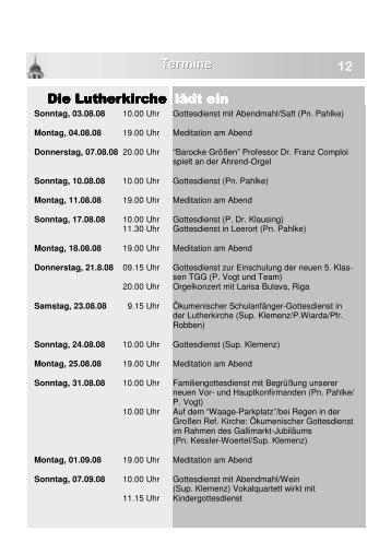 Heft 26.pub - Lutherkirche Leer