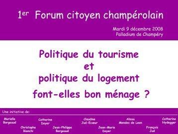 Forum citoyen champérolain – 9 décembre 2008